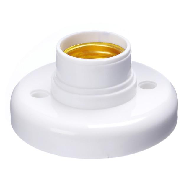 ES E27 Edison Screw Cap Socket White Ceiling Light Lamp Bulb Fixing Base Stand
