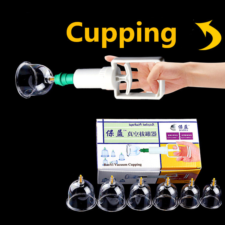 Medical Vacuum Cupping with Suction Pump Suction Therapy Device Set herapy Kit body relaxation healthy Massage set