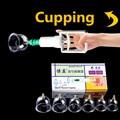Dispositivo de Terapia de Ventosas De Vacío con la Bomba de Succión de Succión médica Conjunto Kit de relajación corporal saludable Masaje herapy conjunto