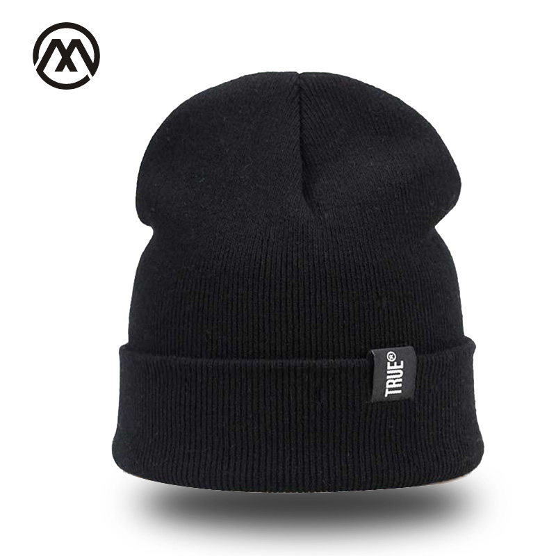 Letter True Casual New Winter Ms.   Skullies   Hoody Knit Simple Warm Soft Cap Outdoor Fashion Pure Color High Quality Loose Leisure