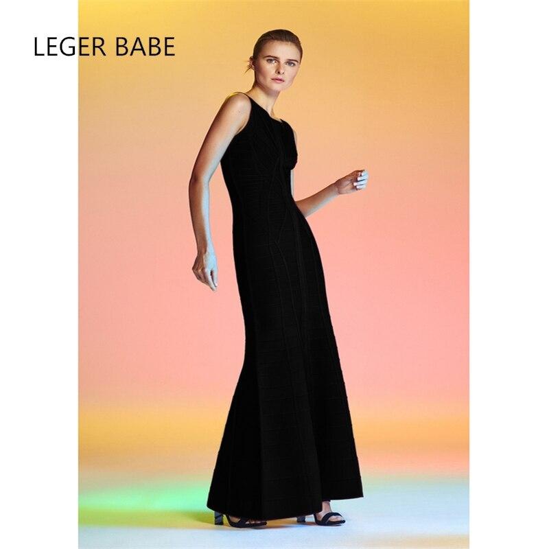 8d6dcc6b2a10a96 2017 leger Babe женское платье черный спина открыта длинные ботильоны Длина  Бандажное платье Вечеринка платье Оптовая Продажа HL j42