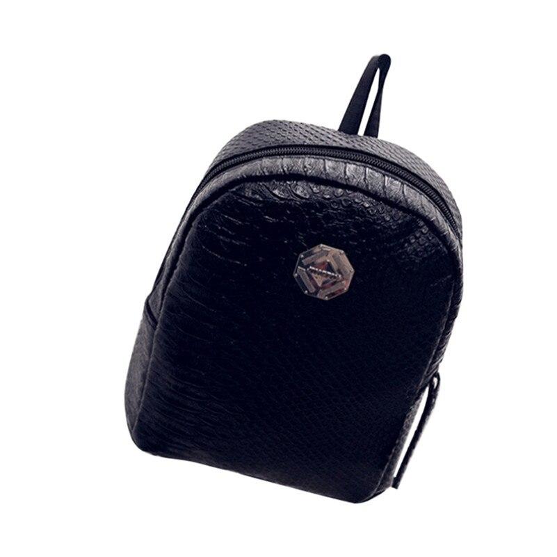 Women Fresh And Simple Mini Leather Backpack Women Back Pack Backpacks Teenage Girls Fashion Backpack Famous Brand 2017