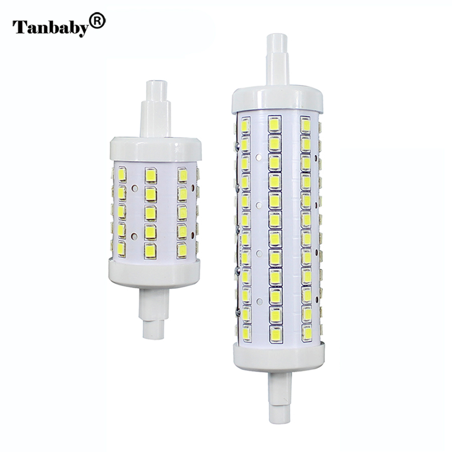 Tanbaby Dimmable R7S LED Light Bulb Lamp SMD 2835 LED Corn Bulbs 360 Degree 78 118mm Lampadas AC85-265V Lantern Replace Halogen