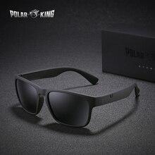 POLARKING marca polarizada gafas de sol para hombres plástico gafas de sol de moda cuadrado conducción viajes gafas de sol
