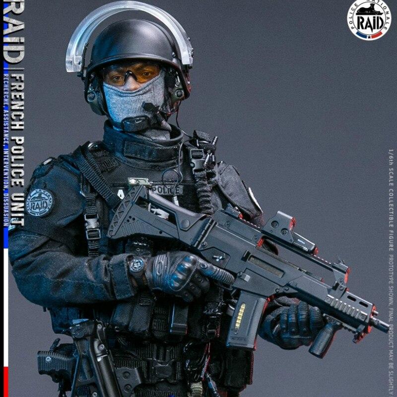 DAMTOYS DAM 78061 1//6 Scale French Police Unit Raid in Paris Helmet Model