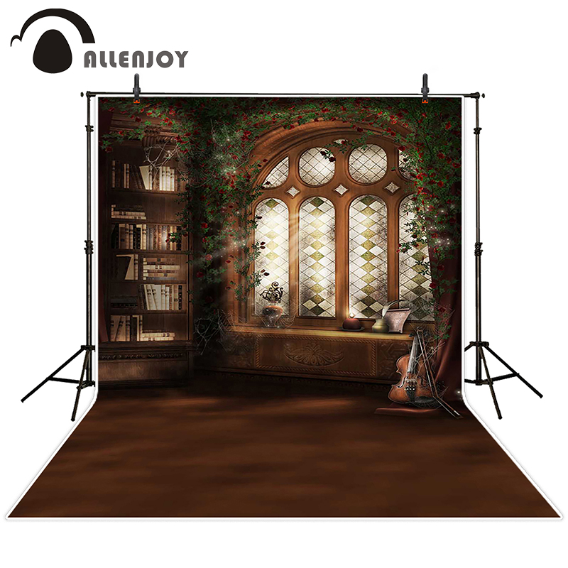 Allenjoy photographic background Videos light violin book backdrops kids wedding summer photocall 8x8