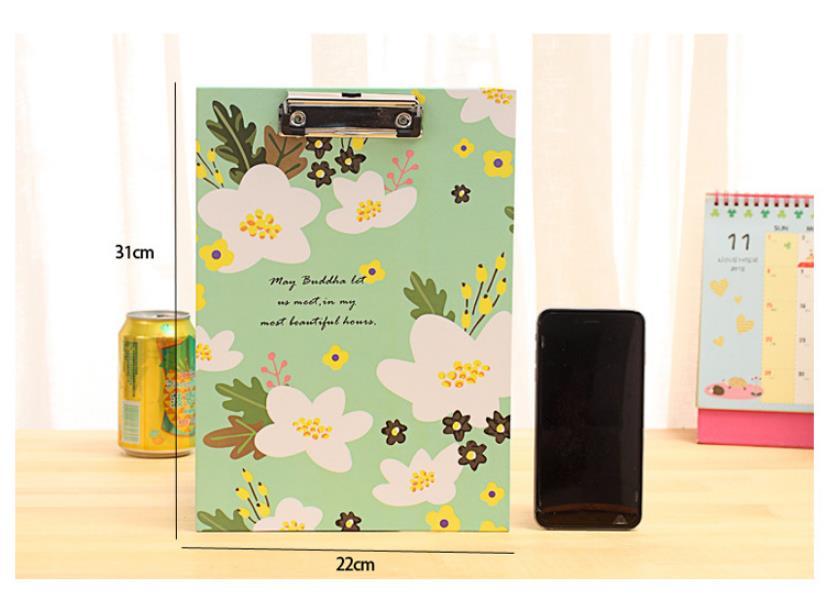 aeProduct.getSubject()  Cute Flower sequence A4 folder board Pill holder paper writing pad clipboard for little one reward workplace provides/ stationery four colours HTB17ZLicWagSKJjy0Fcq6AZeVXa7