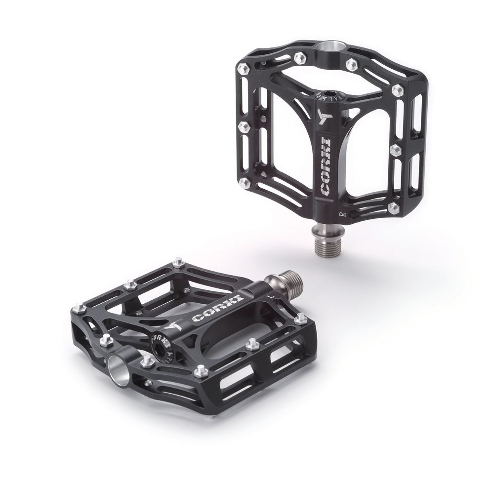 MTB DH BMX XC Titanium Axle Spindle Alloy Pedals Platform Flat font b CNC b font