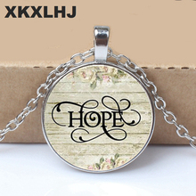 2019/ Hot Sale HOPE Charm Necklace, Hopeful, Hope Pendant, Inspirational Gift, Survivor
