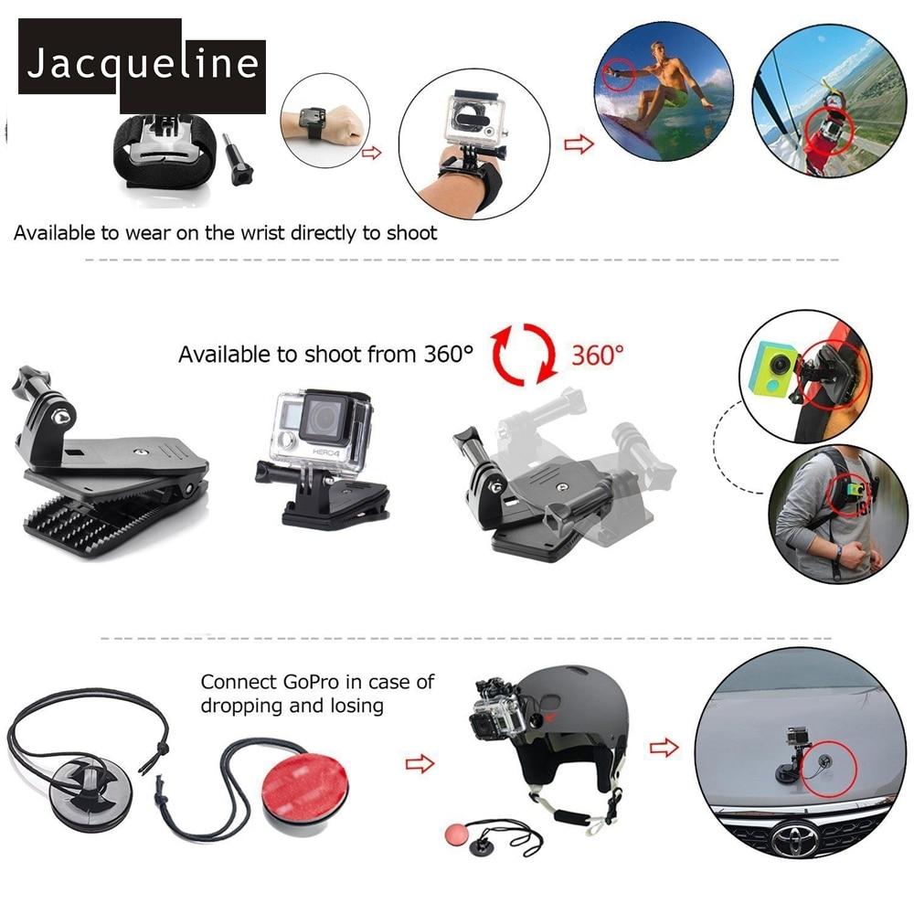 Jacqueline për Aksesorë Kuti Set Qese për Gopro HERO 6 5 3+ 4 - Kamera dhe foto - Foto 4