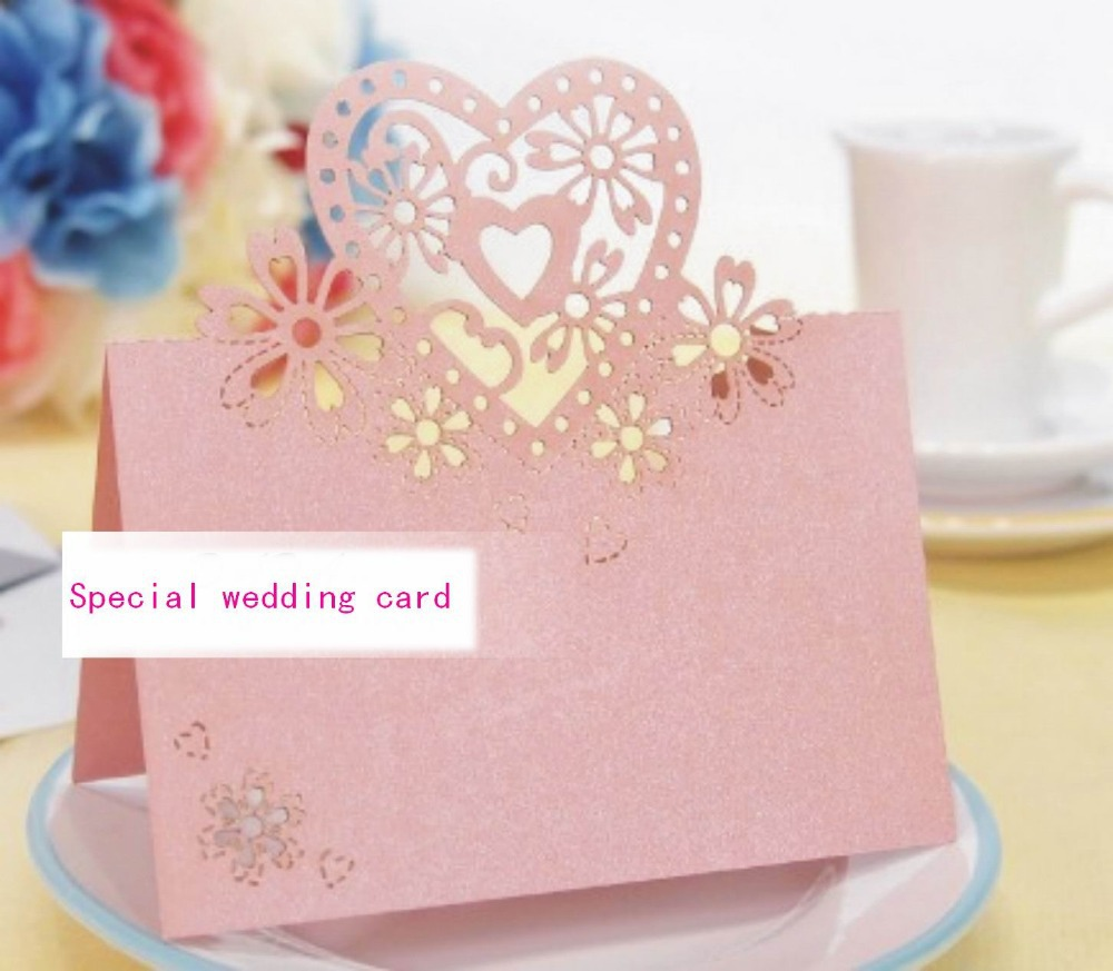 Wholesale Lovers Shaped Wedding Invitation Decorations Place Cards ...