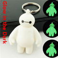FreeShipping DHL Movie Beast Corps Big Hero 6 Baymax Keychain Glow In the Dark For Child Gifts/Car/Bag/Phone Accessory 200pc/lot