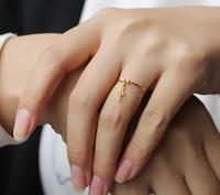 Новое поступление чистый 24 К желтого золота кольцо для ключей