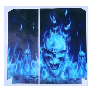 Image 4 - Fire Skull Vinyl Decal Waterproof Sticker for PS4 for Sony PlayStation 4 Protector Cover +2 Stickers for PS4 Controller Gamepad