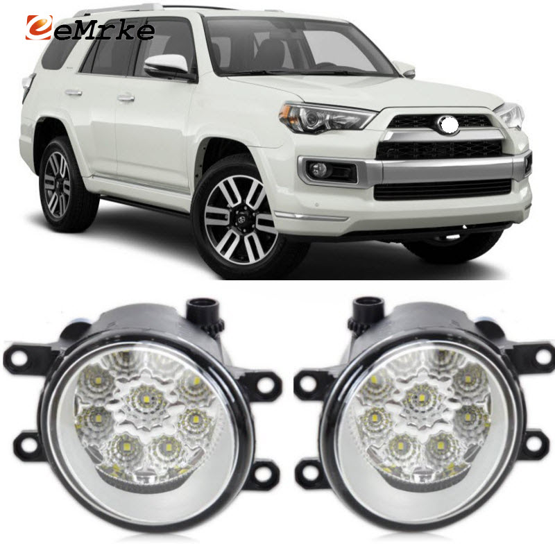 EEMRKE For <font><b>Toyota</b></font> 4 Runner 2010-2017 9-Pieces Led Halogen Fog Lights 12V 55W Fog Head Lamp Car-Styling image