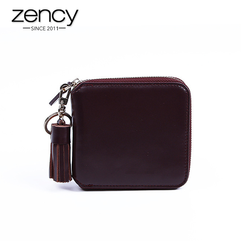 ФОТО 2016 Tassel Fashion Classic Genuine Leather Women Small Wallet Ladies Girl Clutch Bag Pocket Purse Female Card Holder Feminina