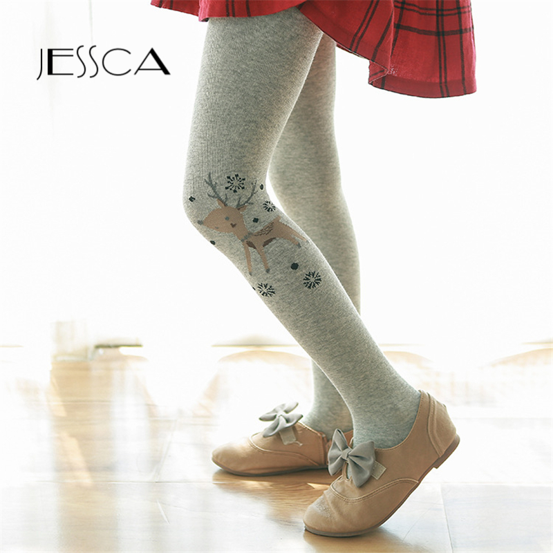 Christmas Deer Kids Girls Tights Children Pantyhose Autumn Winter Thicken Cotton Tights For Girl Warm Cartoon For 3-12Y