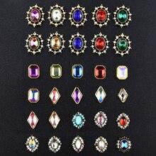10 шт. Топ 3D очаровательные Стразы для украшения ногтей, Кристальные стразы, алмазные камни, драгоценные камни, ювелирные изделия для ногтей, аксессуары, Новое поступление, сплав