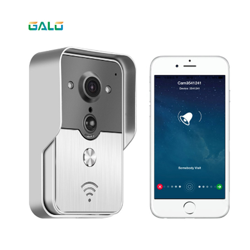 WIFI Video Door Phone With Android ISO App/RFID & Code Keypad Doorbell Support Electric Lock Automatic Gate Opener System