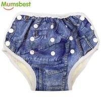 [Mumsbest] Новые Детские AIO тренировочные штаны моющиеся Детские Подгузники подгузник с хлопковой вставкой многоразовые подгузники из ткани дл...