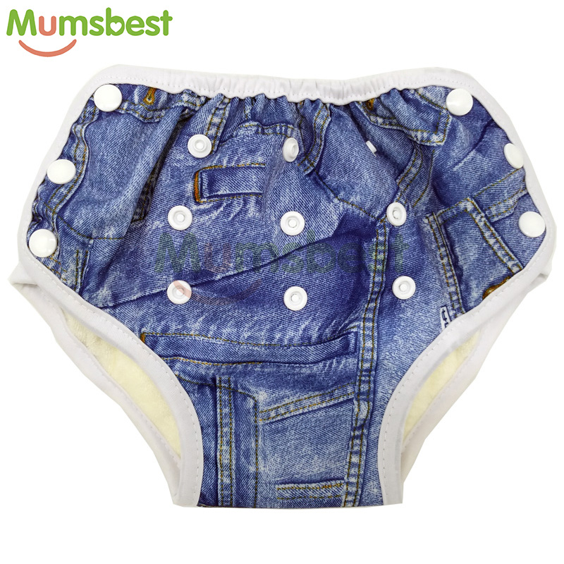 29b0f47d839a [Mumsbest] nuevo bebé AIO pantalones de entrenamiento lavable paño de bebé  pañal con algodón insertar pañales de tela reutilizables para 10 -18 kg  bebés