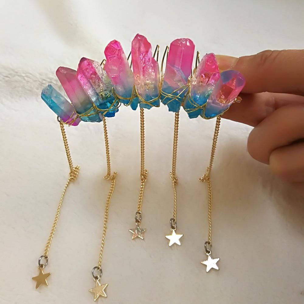 Super Kawaii Crystal crown, mermaid crown, mermaid tiara, quartz crown, crystal comb, festival crown, festival accessories