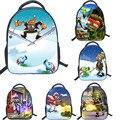 13 Inch Cartoon Backpack Plants VS. Zombies Shoulder Book Bag Printing School Bags For Kids Children Boys Girls Mochila Infant