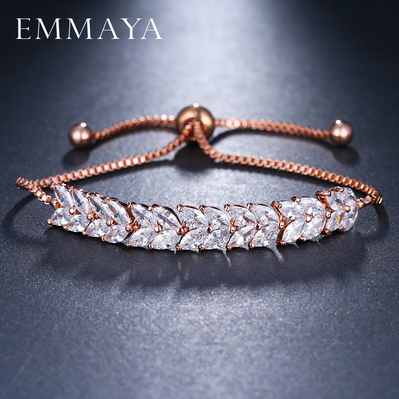 цены EMMAYA Fashion Adjustable Bracelets For Women Pulseras Mujer Wedding Crystal Bracelet Charm Femme Party Jewelry Friend Gift