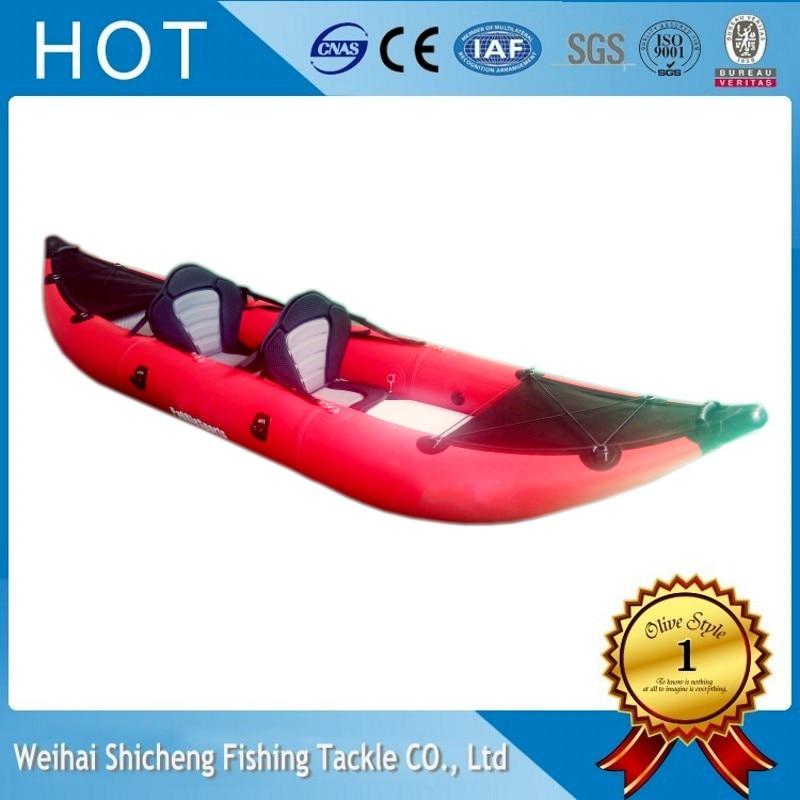 Engros to-personers kajak i god kvalitet, populær oppustelig robåd