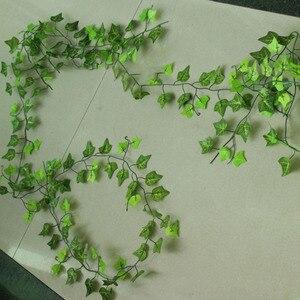 Image 5 - 12PCS 2.4M ดอกไม้ประดิษฐ์ Ivy Leaf Garland พืช Vine Fake Foliage ดอกไม้บ้านตกแต่งพลาสติกประดิษฐ์ดอกไม้หวาย Evergreen