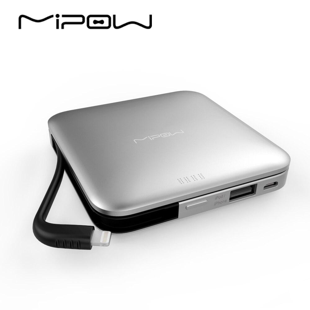 bilder für MIPOW Energienbank Batterie 9000 mAh Tragbares Ladegerät mit MFI Zertifiziert Blitzkabel für iPhone iPod iPad Apple iPhone7 6 5 Mini