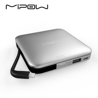 MIPOW Power Bank Battery 9000mAh Portable Charger with MFI Certified Lightning Cable for iPhone iPod iPad Apple iPhone7 6 5 Mini