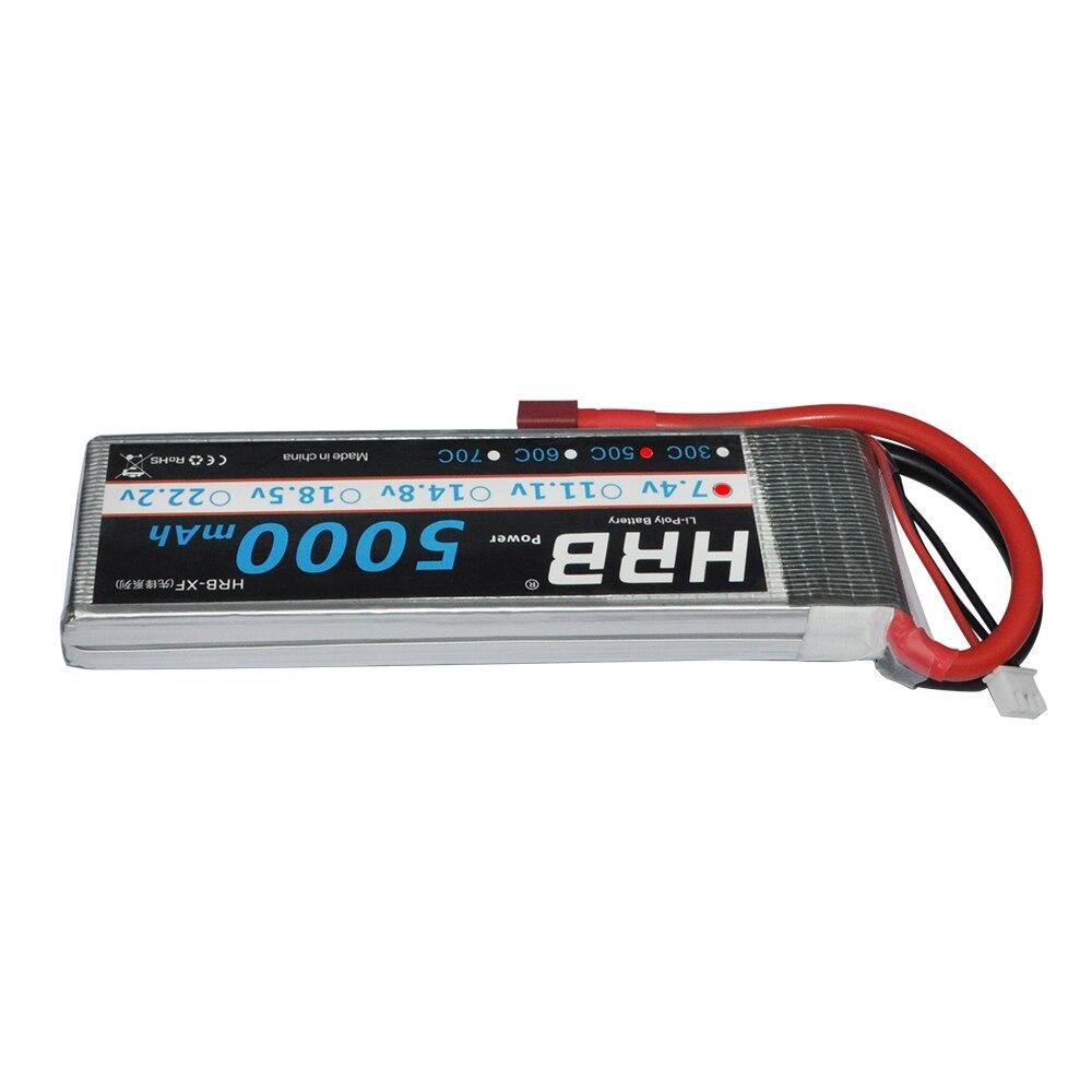 HRB RC Lipo батарея 7,4 V 5000mah 50C 100C 2S батарея для RC AKKU Автомобиль Лодка Самолет Квадрокоптер Slash 4x4 Remo хобби Jet