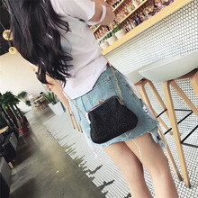 Small Crossbody Boho Bags Clutch Handbag Straw Rattan SF