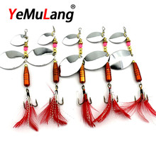 BB783 1PCS  Spinner Bait Metal Artificial Fishing Lure Doubl