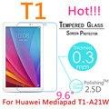 Для Huawei Mediapad T1 10 Закаленное Стекло-Экран Протектор 2.5 9 h Безопасности Защитную Пленку на LTE T1-A21L T1-A21W 9.6 дюймов Pro