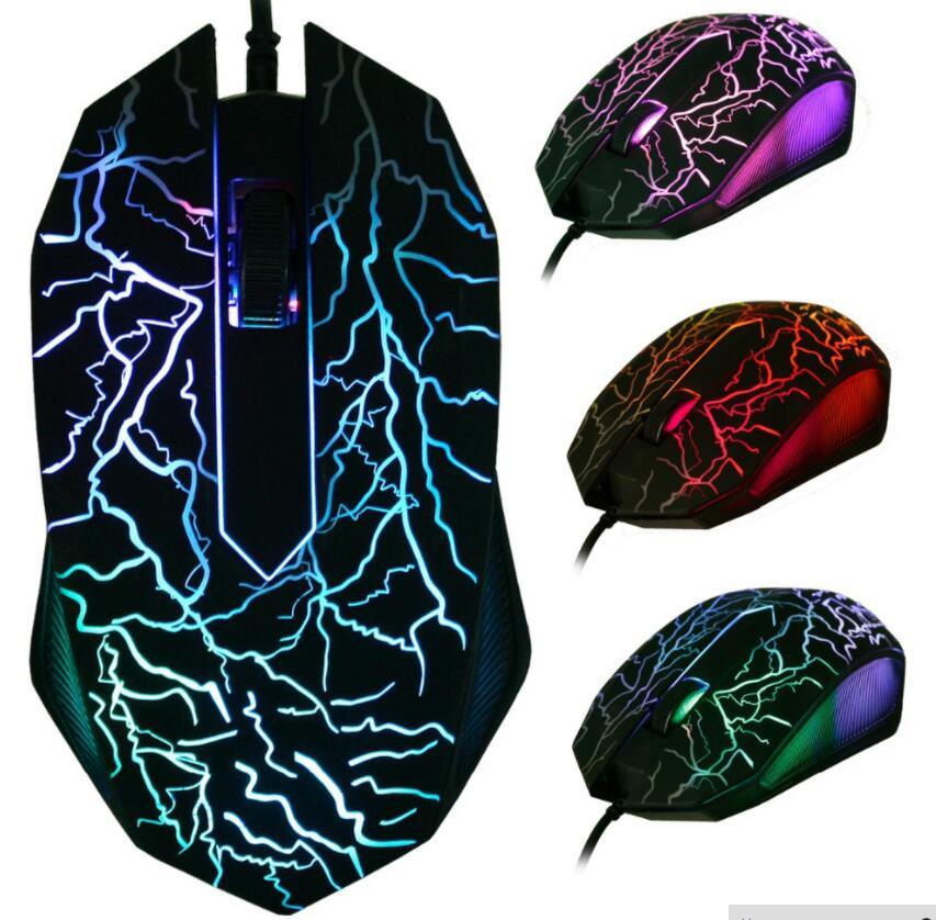 Dvc 3D USB люминесцентные Мышь 2000 Точек на дюйм Оптическая Проводная Мышь 3D Optiacl Мышь ...