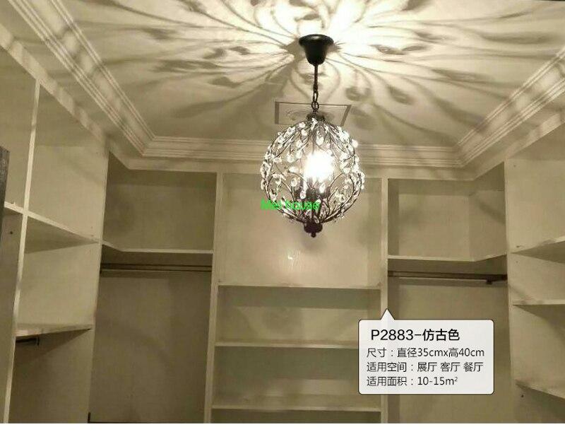 Art deco di illuminazione rotonda lampadario di cristallo di