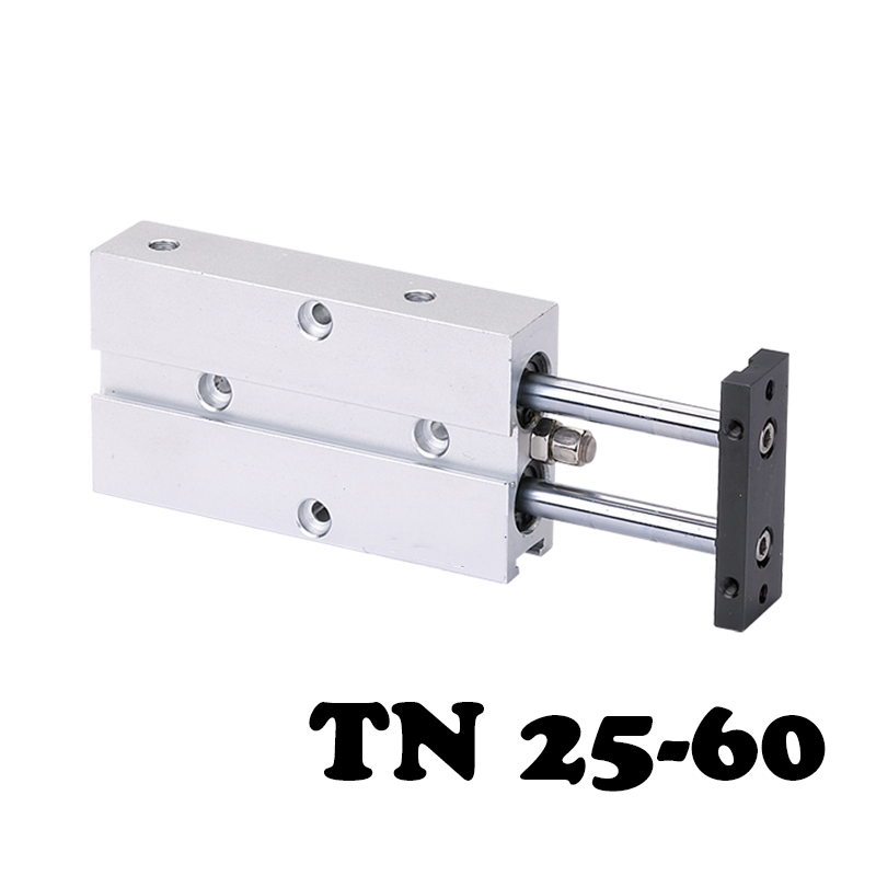 TN25*60 Two-axis double bar cylinder Double Shaft Rod Dual Action Pneumatic Air Cylinder