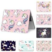 Cute Cartoon Unicorn Case for MacBook Air 11 2018 13 inch Pro  15 Retina 12 Hard PVC A1369 A1425 A1370 1465 Funda