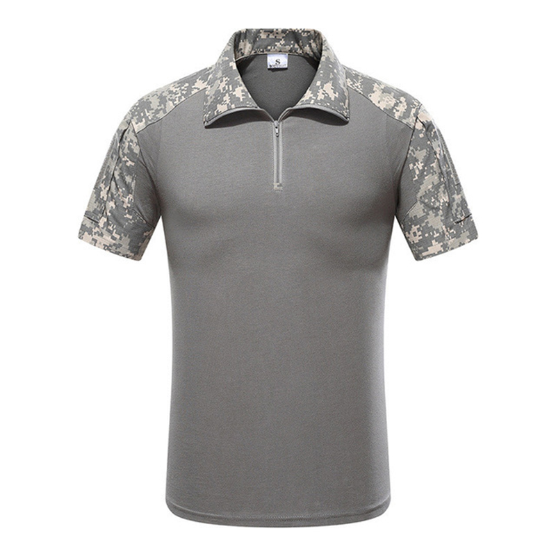 Summer Outdoor Short-sleeved Camouflage Hunting Hiking Tops Men Army Tactical Breathable Base T-shirt Combat Pythons T-shirt Wrench