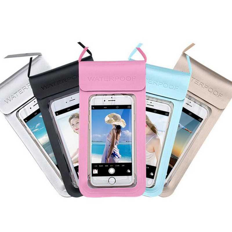 6,5 zoll Wasserdicht Tauchen Tasche Handy Tasche Unterwasser Dry Fall Abdeckung Für Kanu Kajak Rafting Treiben Strand