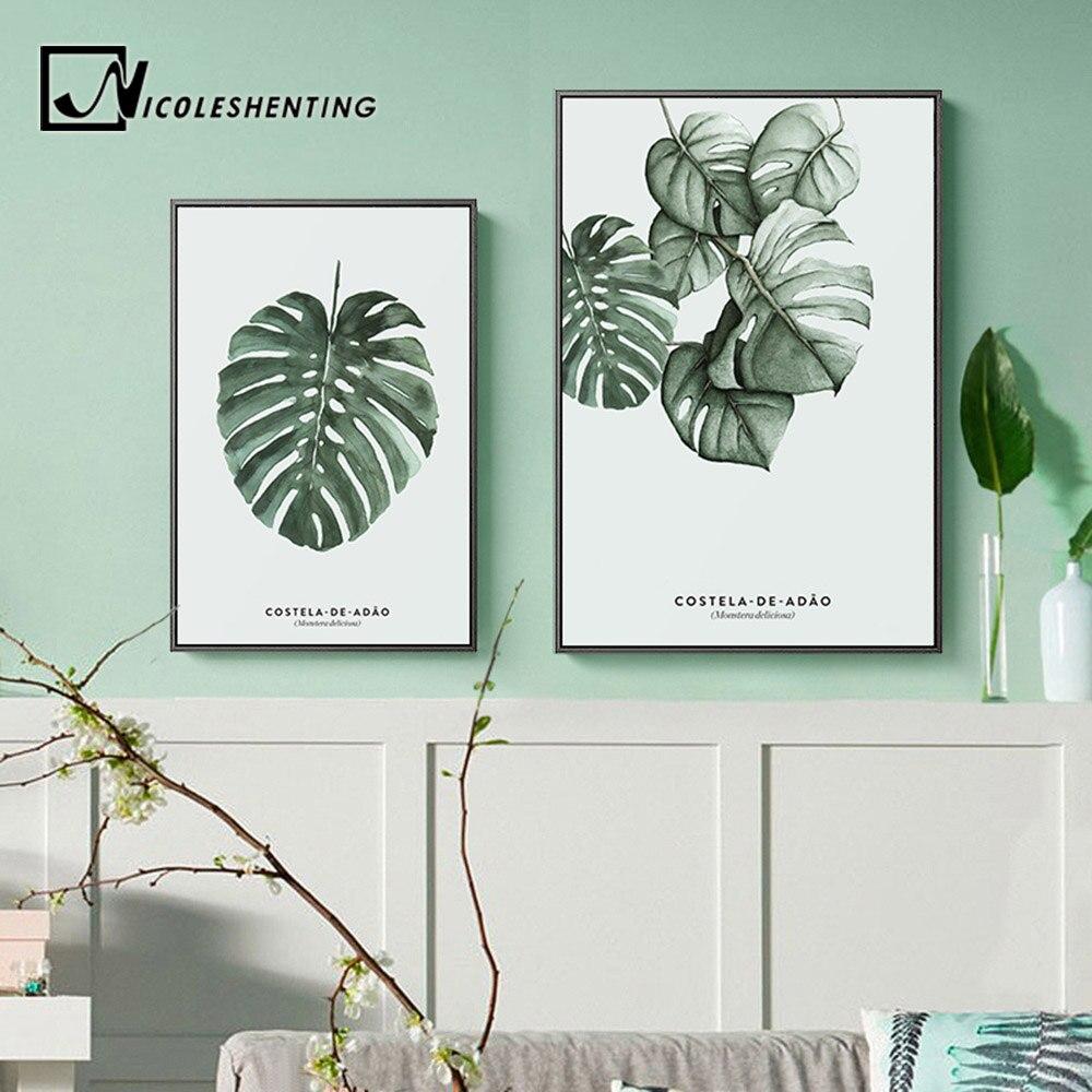 50x70cm Sin marco Estilo Plantas verdes Cactus Tr/íptico Pinturas sobre lienzo Cuadros de pared para sala de estar Carteles e impresiones Hogar