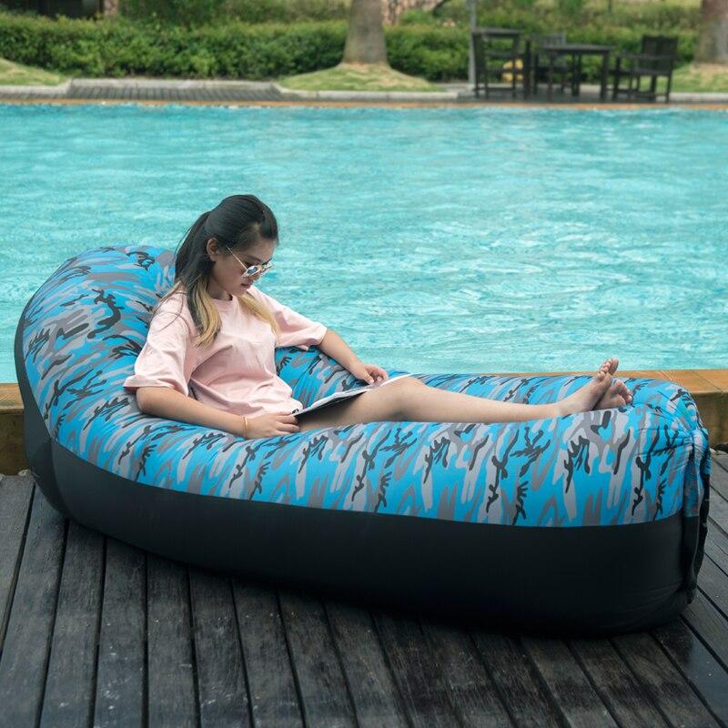 Norent надувной матрас с подушкой на открытом воздухе кемпинга кровать подушки для отдыха коврик ленивый мешок новая форма Портативный