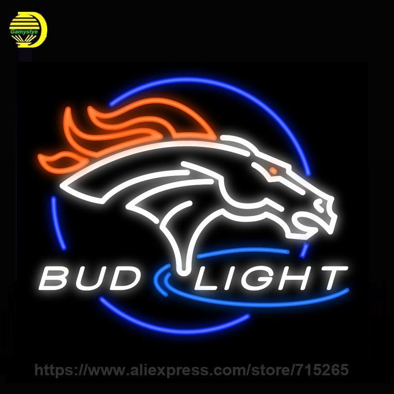 Neon Sign For Bud Light Lake of the Ozarks UConn Huskies Denver Broncos Budweiser Sturgis 2003