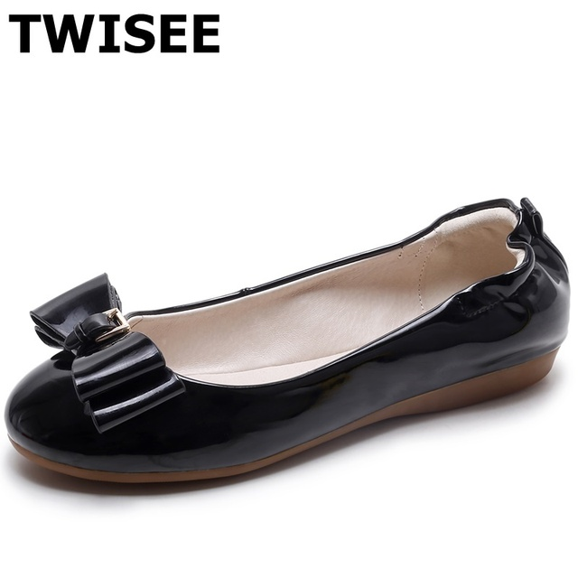 ballerines round cuir chaussures plates tep sapatos sapatos tep femininos 814b8b