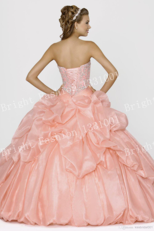 Barato Hot Pink Vestido de Quinceañera Debutante Vestido Debutante ...