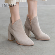 Ankle Boots for Women Fashion Women Boots Winter Shoes 8cm winter boots women 2018 new fashion ladies shoes sexy ankle boots for women beige black scarpe donna 8cm