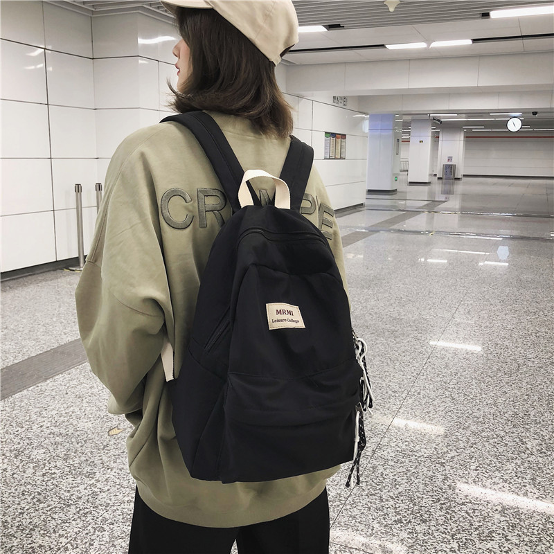 DCIMOR Solid color Women backpack Retro Fashion Waterproof Nylon Backpack School Bags For Teenagers Mochilas Travel DCIMOR Solid color Women backpack Retro Fashion Waterproof Nylon Backpack School Bags For Teenagers Mochilas Travel Backpacks