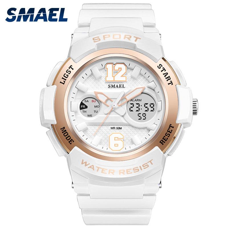 SMAEL Ladies Watch Women Gold Rose Digital Sport Waterproof Watches Top Brand Luxury Baby Fashion G